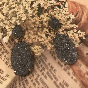 Silpada W3147 S. Silvr Druzy Glisten Up Earrings
